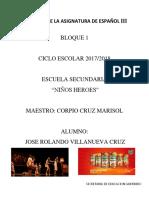 Antologia de La Asignatura de Español III