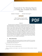 A Benchmark Framework for Non Maturing Deposits: