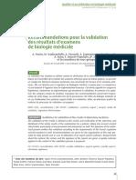 ABC-291656-Recommandations Pour La Validation Des Resultats Dexamens de Biologie Medicale--W0dX6H8AAQEAAGgwRTsAAAAC-A
