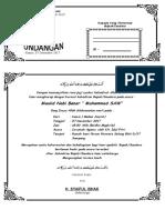 Undangan Peringatan Maulid Nabi Muhammad SAW