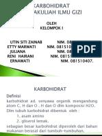 KARBOHIDRAT presentasi