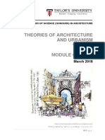 theories of architectureurbanism module outline  march 2018