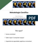 Slides Metodologia Cientifica 2018
