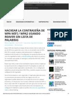 Hackear La Contraseña de WPA Wifi _ WPA2 Usando Reaver Sin Lista de Palabras
