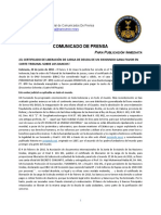 2018-06-20 SPANISH PRESS RELEASE - UN SWISSINDO DEBT BURDEN LIBERATION CERTIFICATE WINS COURT FAVOUR OVER BANKS!