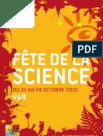 Fête de la science 2010 Programme du Var