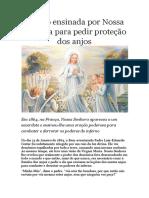 Oração Ensinada Por Nossa Senhora Para Pedir Proteção Dos Anjos