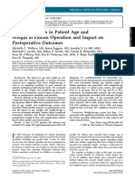 Center Variation in Patient Age and Weight at Fontan Operation and Impact on Postoperative Outcomes