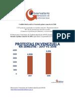 Conflictividad en Venezuela Primer Semestre de 2018