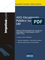 Leia Algumas Paginas Da Obra Afo e Orcamento Publico Na Cf e Lrf