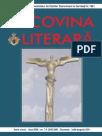 Bucovina Literara Nr 7 8 Iulie Aug 2011
