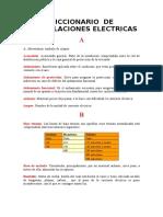 Diccionario de Instalaciones Electricas