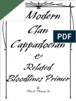 Modern Cappadocian Clan Book (Fanbook)(Complied)