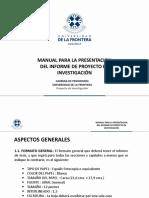 Manual Para La Presentacion Del Informe periodismo UFRO
