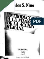 Introducción a La Filosofía de La Acción Humana 1987 Carlos Nino