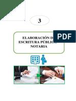 3 Elaboracion de Escritura Publica Notaria