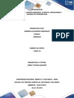 Unidad 1 Paso 2 - Espacio Muestral, Eventos, Operaciones y Axiomas de Probabilidad