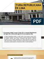 Arquitectura Republicana en Lima