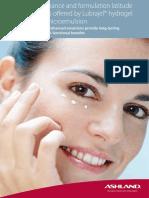 UG Lubrajel Hydrogels - Lubrasil Microemulsions Brochure