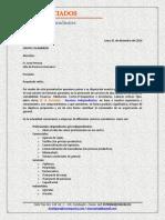 Carta de Presentación RF & Asociados - Grupo Calaminon