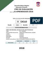registro auxiliar de evaluación primaria 2018