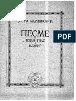 Marinković, Josif - Pesme