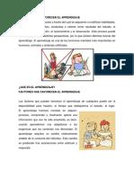 Factores Que Favorecen El Aprendizaje