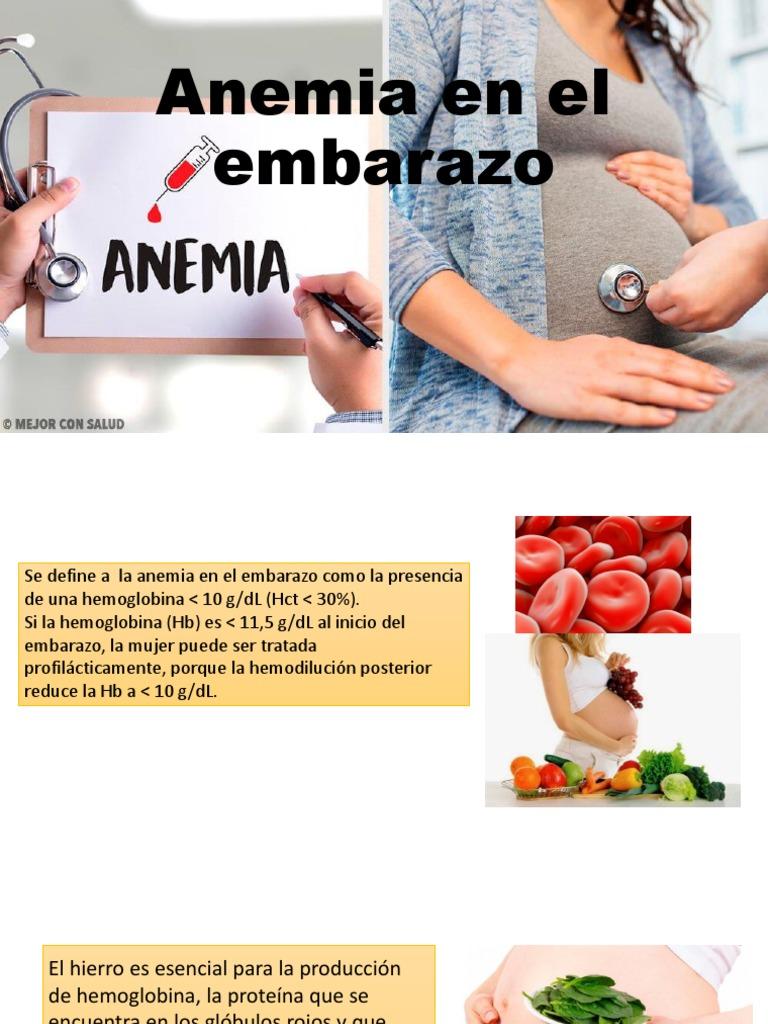 anemia y embarazo)