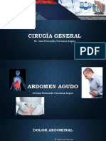 Abdomen Agudo, y Apendicitis