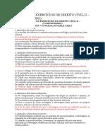 14ª Lista de Exercícios de Direito Civil II