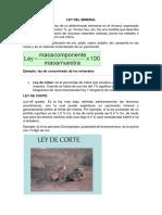Ley Del Mineral (Yacimineto)