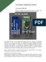 Domc3b3tica Con Arduino Bluetooth y Android