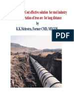 Cost Effective Solution For Steel Industry For Transportation of Iron Ore For Long Distance.pdf