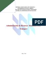 Administración de Recursos Humanos (980) Trabajo # 1 (1)