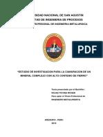 """""""Estudio de Investigacion Para La Cianuracion"""