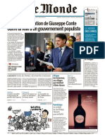 Journal Le MONDE Du 25 Mai 2018