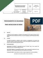 Ps-001 - Procedimiento de Seguridad Para La Instalacion de Faena