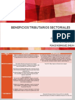 beneficios tributarios sectoriales