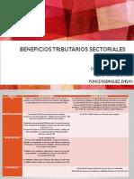 beneficios tributarios sectoriales
