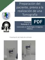 Preparación de Paciente para Tomografía- (TAC/CAT)
