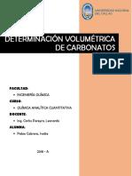 Determinacion Volumetrica de Carbonatos