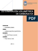 Determinacion Volumetrica de Carbonatos