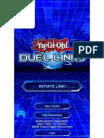 Yugioh Duel Links Menu