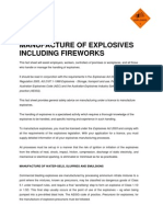 Explosives Factsheet 8 Manufacture Explosives Including Fireworks 5259