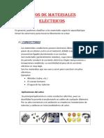 Tipos de Materiales Eléctricos