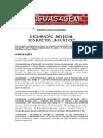 Declaracao Universal Dos Direitos Linguisticos