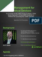 Risk Management for Medical Devices Webinar Slides