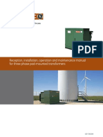 Receptioninstallationoperation and Maintenance Manual for Three Phase Pad-mounted Transformers