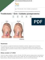 Tiroidectomía - Serie—Cuidados postoperatorios