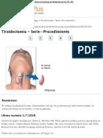 Tiroidectomía - Serie—Procedimiento